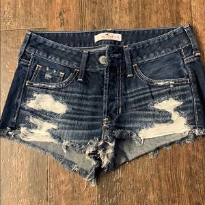 High wasted distressed Hollister Shorts size 1
